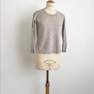 madewell gray sweater sz: S